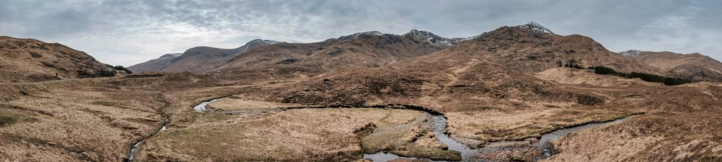 Panorama de la région de Glen Shiel