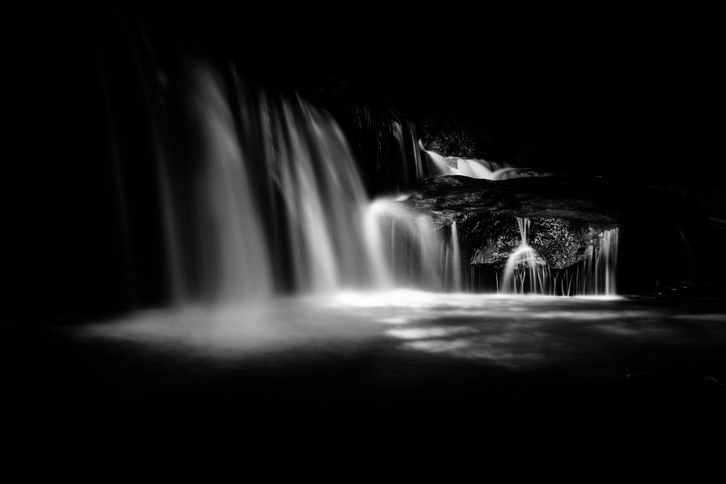 Black & White Waterfalls Variation 04